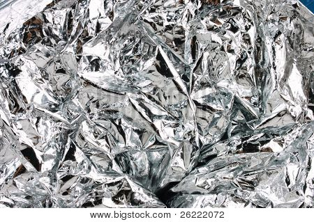 crushed tinfoil as a textured background