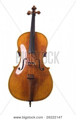 Cello on a white background