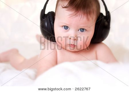 Baby And  Earphones