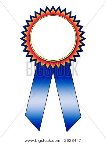 Colorful Blue Ribbon With Text Area