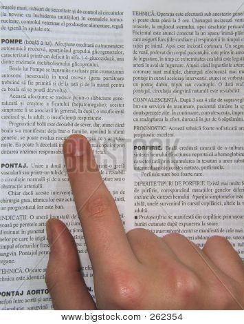 Book & Hand