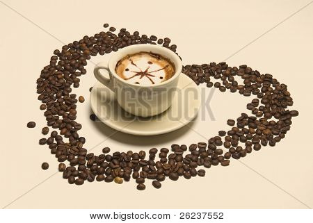 hearth symbol with coffee beans
