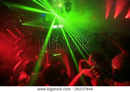 Nacht Club Musik Ereignis Partei Laser Lights background
