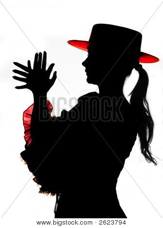 Silhouette In Red And Black