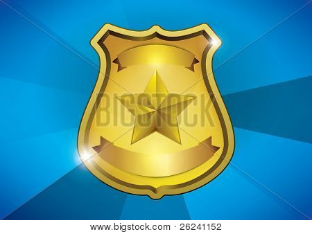golden blank shiny medal with place for text