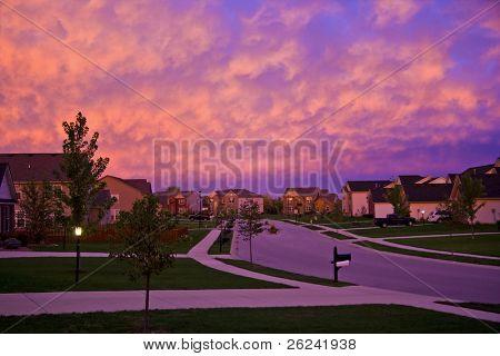 Suburbia de noche