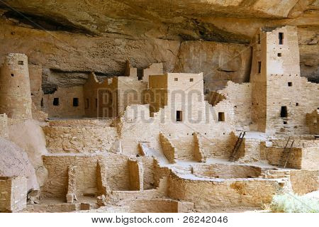 Ancient Indian city at Mesa Verde, Colorado