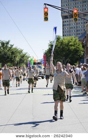 Indianapolis, IN - June 14: Gay Pride Parade in downtown Indianapolis, IN
