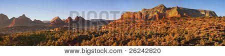 Panoramic view of Arizona Red Rocks