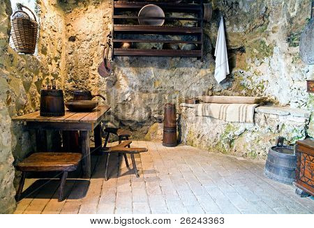 Antique kitchen interior