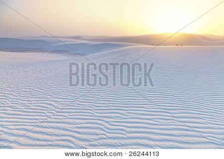 Dramatic sunset at White Sands National Monument