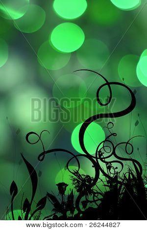 Desenfoque orgánico luz verde
