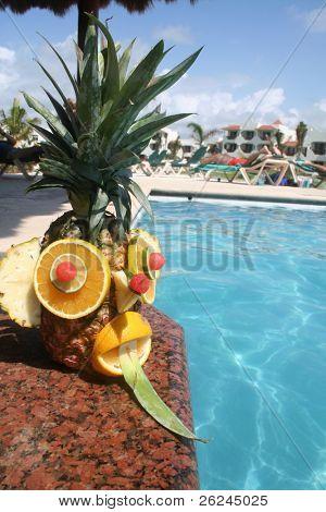 Festive tropical pineapple