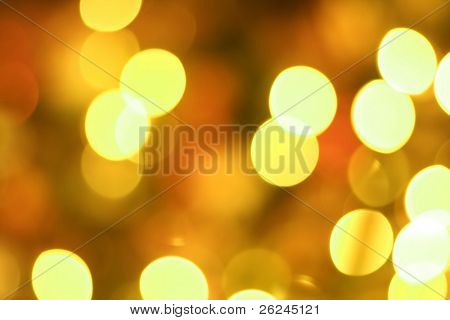 Golden glow light blur