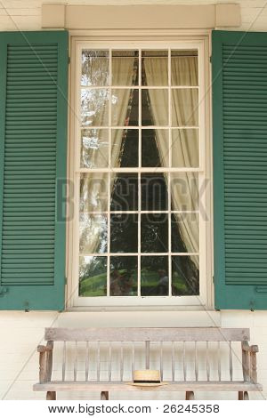 window at Andrew Jackson's hermitage house