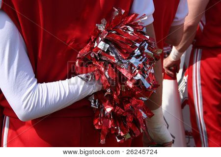 cheerleader show support during the football game