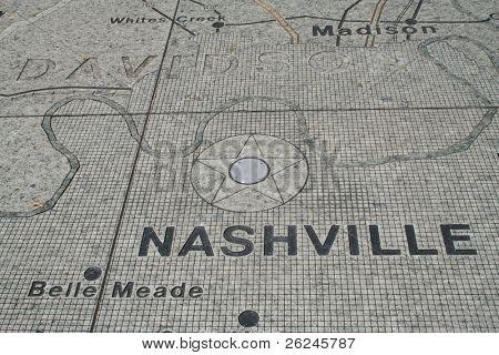 Nashville map at Bicentennial Park