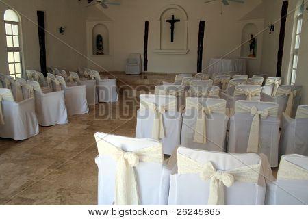 Intimate chapel wedding