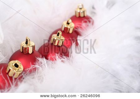 parade of ornaments in feathers