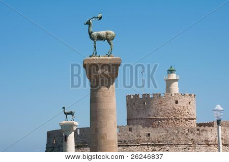 Colossus of Rhodes island, Greece