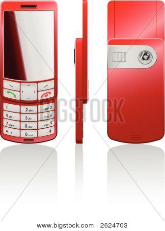 Vector ilustración de un teléfono rojo