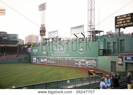 Green Monster seating at Fenway park in Boston, Massachusetts