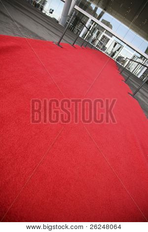 Red carpet entrance for the rich and famous