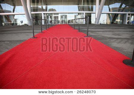 """""""Roter Teppich""""-Eingang für ein Celelbrity Willkommen"""