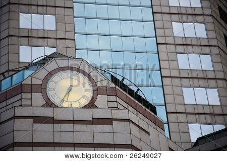 Clock on the Riffe Building in Columbus, Ohio