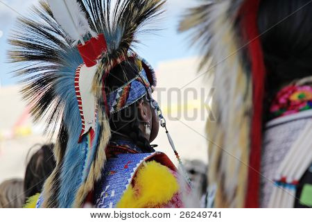 ALBUQUERQUE, NEW MEXICO-APRIL 24:  The Gathering of Nations is the largest Indian Pow Wow in North America and it was held at the University of New Mexico on April 24, 2010 in Albuquerque