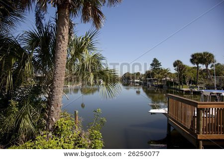 Canal in Cocoa Beach, Florida