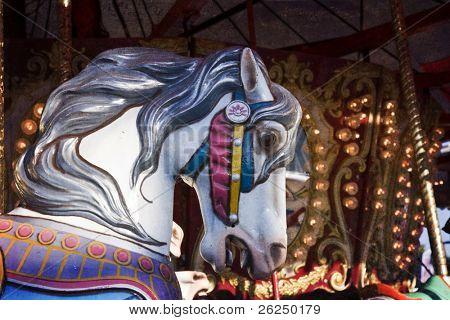 Vintage carousel horse at the Ohio State Fair in Columbus, Ohio