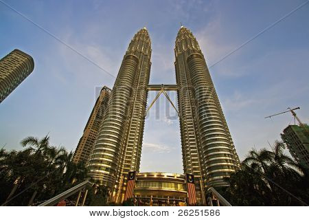 The Petronas Towers. Kuala Lumpur city. Malaysia