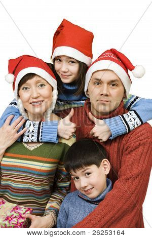 Close-knit Family Before Christmas