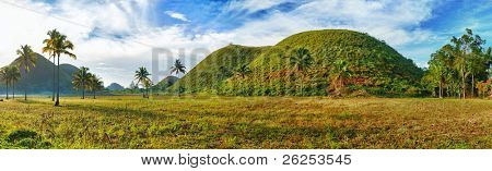 Panorama of The Chocolate Hills. Bohol, Philippines