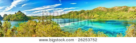 Panorama of a tropical islan Snake. Philippines