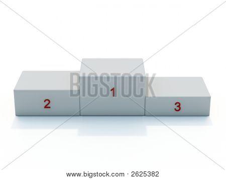 White Pedestal Front