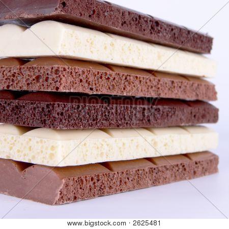 Porous Chocolate Bars Block