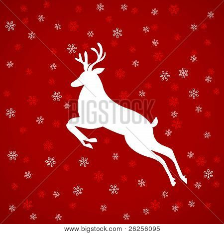 Abstract white deer