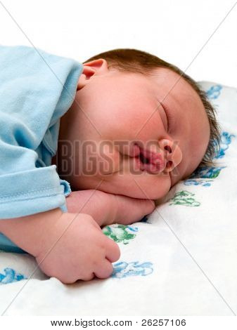 sleeping baby. isolated on white