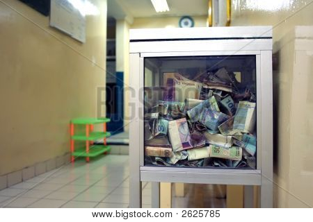 Money In The Charity Box
