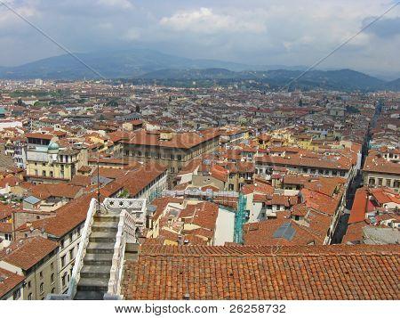 Antena ciudad de vista de Bolonia Italia
