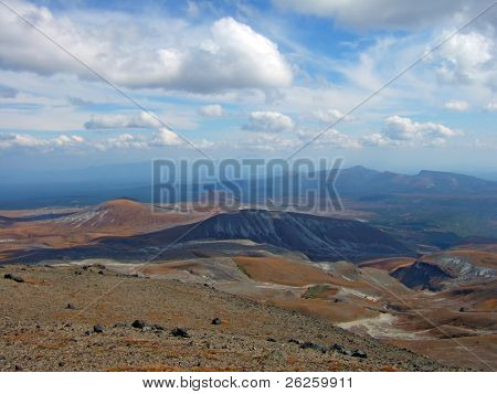 high plain panorama at the top of Paktusan Mountain in North Korea