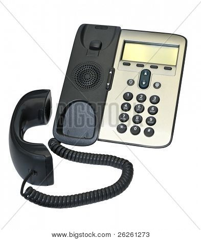 ip phone isolated on white