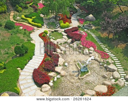 landscape outdoor garden design at Dalian Zoo China