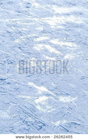rink surface abstract background with trace of skates