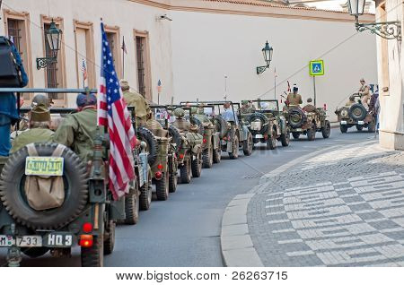 American Veterans And Jeeps