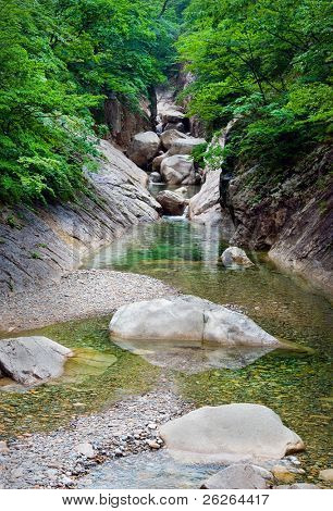 River view at Seoraksan National Park, South korea