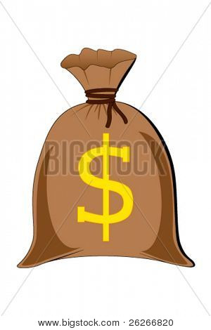 vector of full money sack
