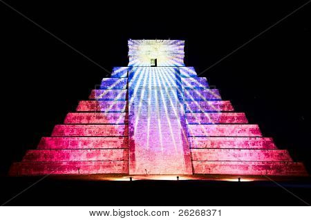 light show on Chichen Itza, Mexico, one of the New Seven Wonders of the World